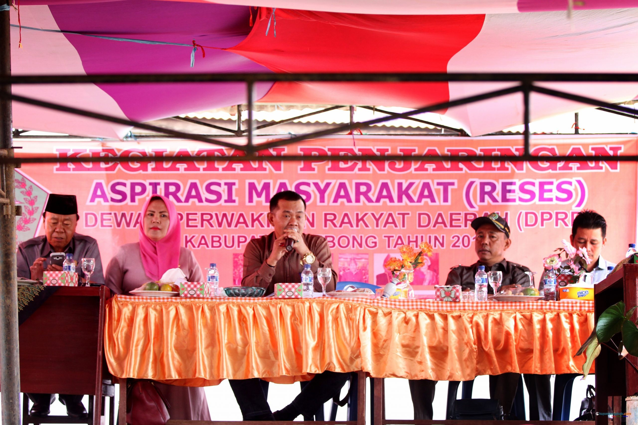 Anggota DPRD Dapil I yang hadir dalam reses yakni Sudirman, Roiyana, Olan Darmadi bertindak sebagai Ketua Rombongan, Jangjaya dan Aswar