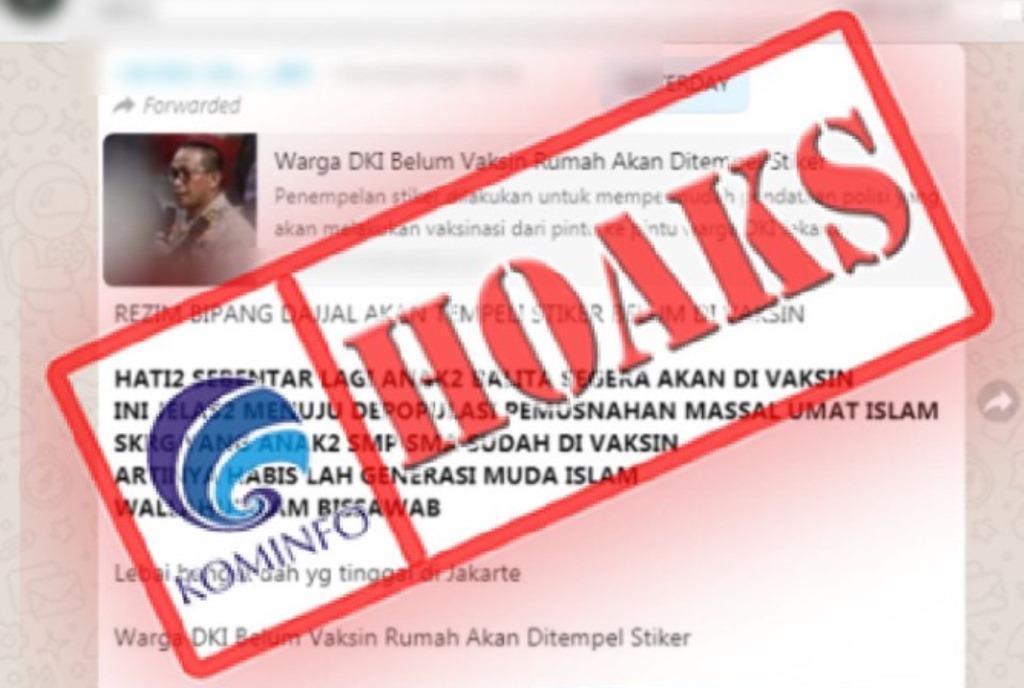 Cek Fakta: Hoax Vaksin untuk Balita Strategi untuk Musnahkan Umat Islam